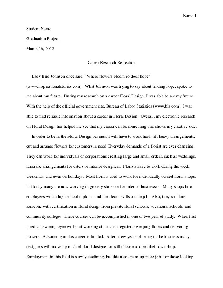 Samples Of Essays About Yourself