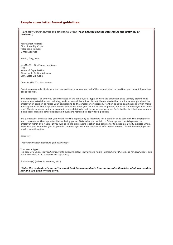 example cover letter format - Manqalhellenes