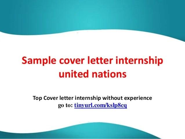 un internship cover letter