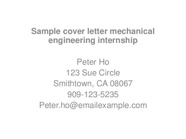 how to write the perfect cover letter for internship cover - How To Write A Perfect Cover Letter