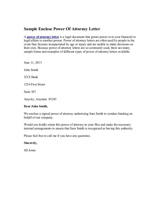 letter for power of attorney - Acurlunamedia - power of attorney sample letters