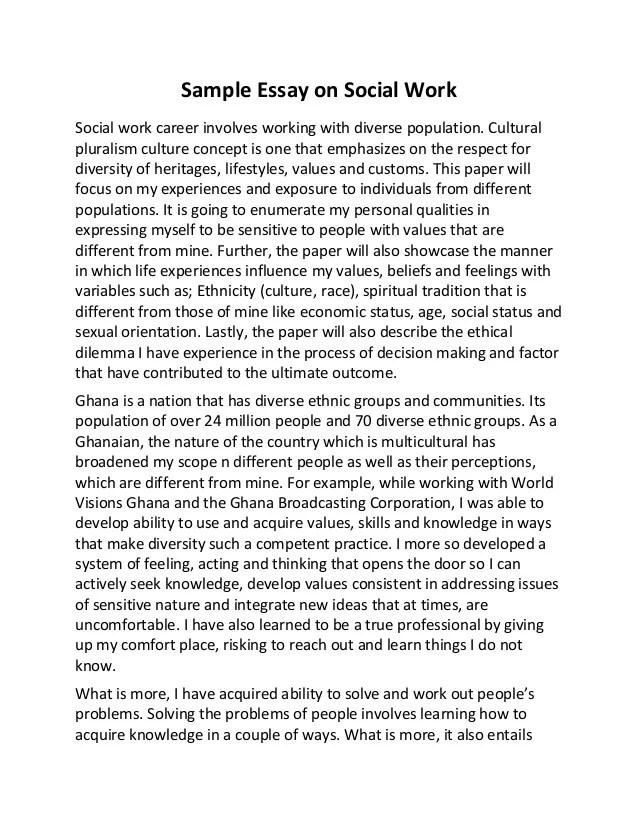 sample graduate school essay