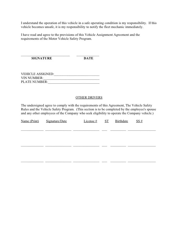 Accident Waiver And Release Of Liability Form Sample Fleet Safety Program