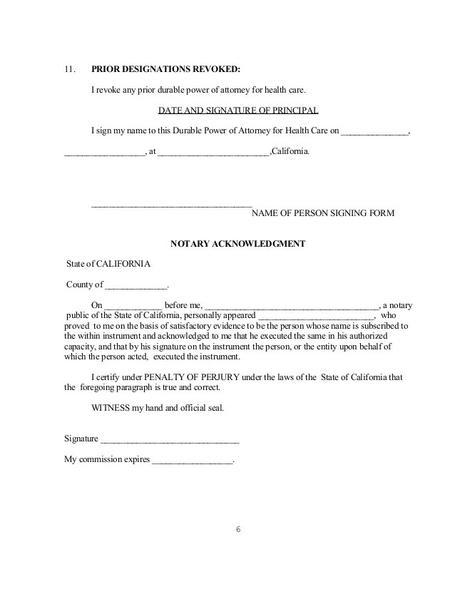 Consent Letter Sample Letters Free Sample California Durable Health Care Power Of Attorney