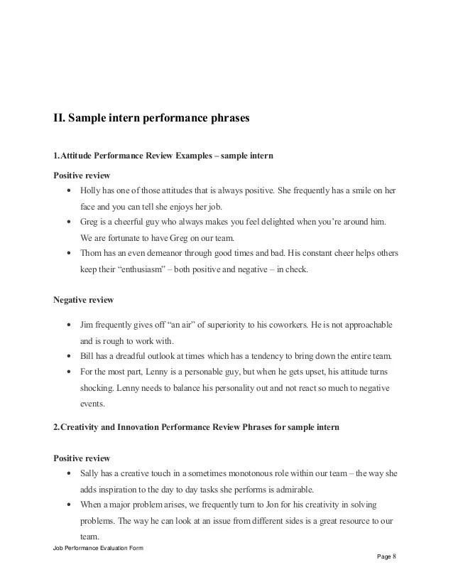 job self assessment sample - Josemulinohouse - sample self assessment