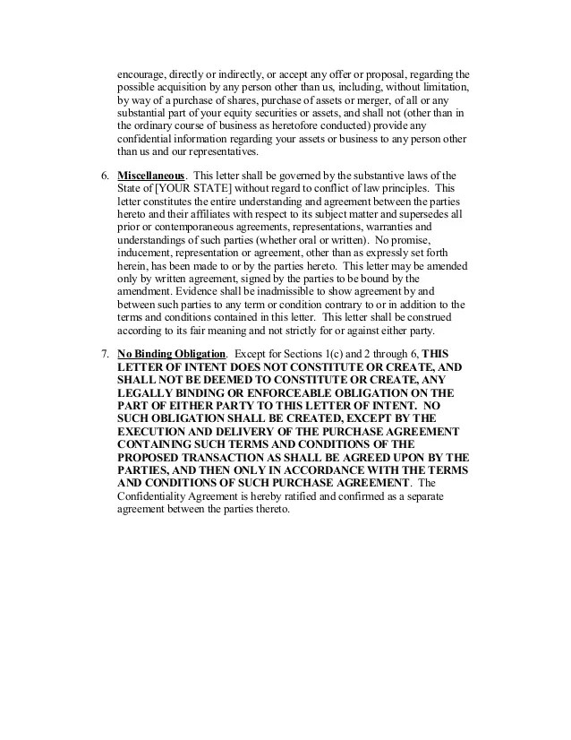 Letter Of Intent Template Free Word Templates Sample Letter Of Intent