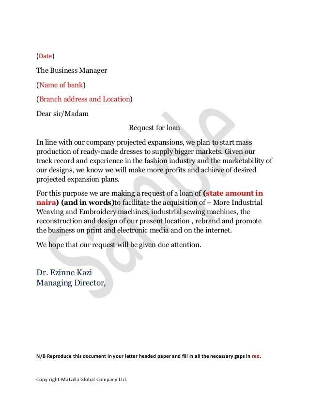 Sample Application Letter Bank Loan – Sample Bank Application