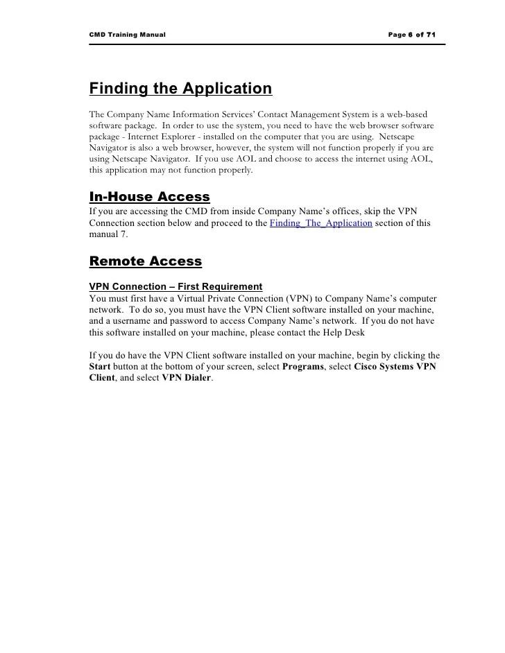 training manual templates - Josemulinohouse - software manual template