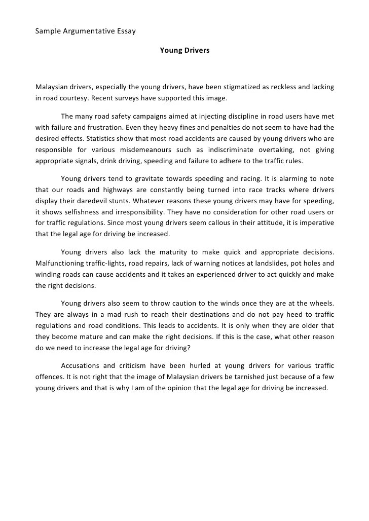 Essay/Term paper: Dangerous driving and the effects on youth