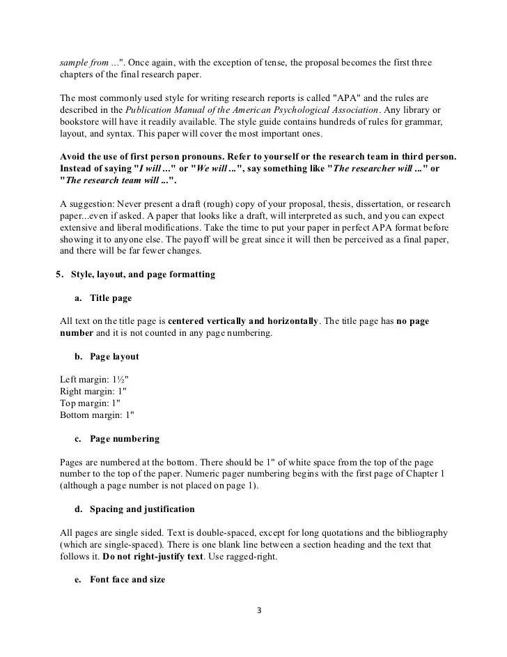 proposal for a term paper