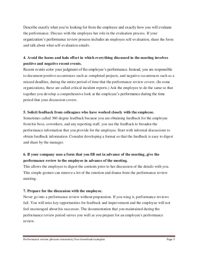 Performance Appraisal Evaluation Form Sample | Simple Invoice Maker