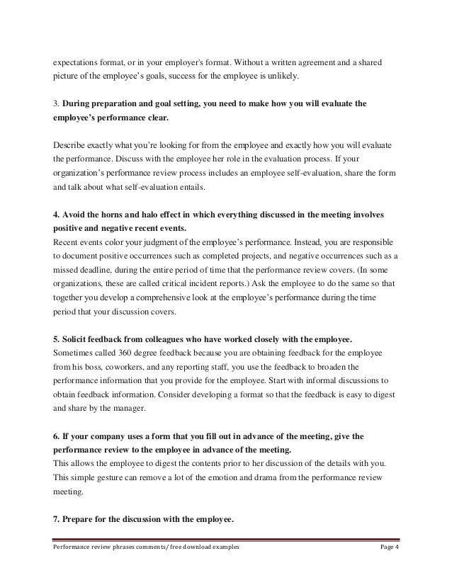 Employee Goal Setting And Review Form  Cover Letter Samples Law