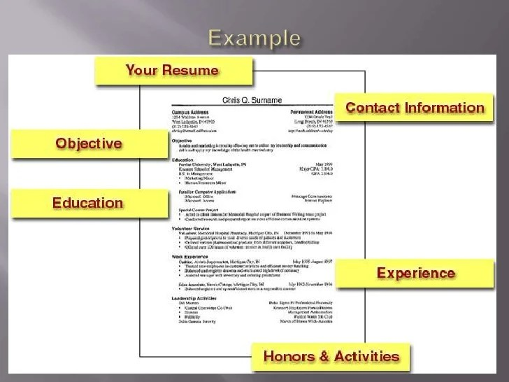 resume writing tips for freshers ppt