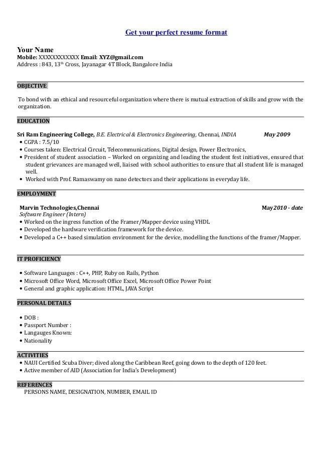 sample video resume script for it student