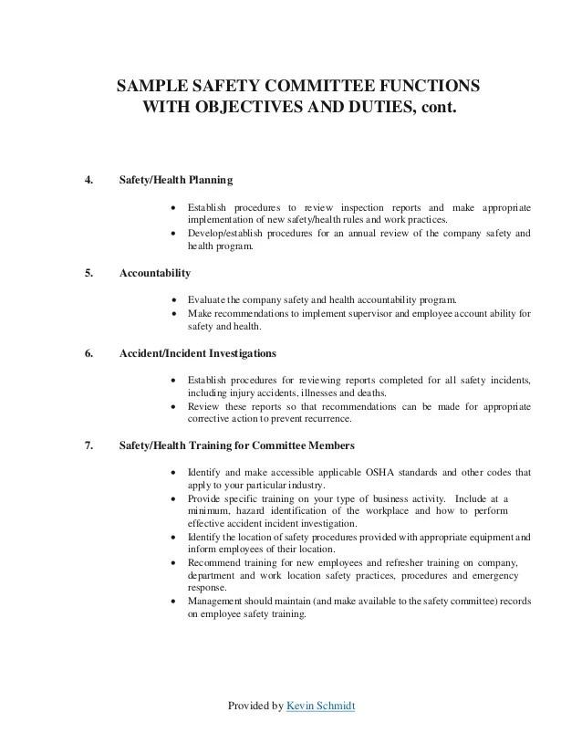 safety programs template - Josemulinohouse - sample safety program