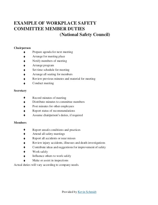 Meeting Agenda Template For Health And Safety | Check Register