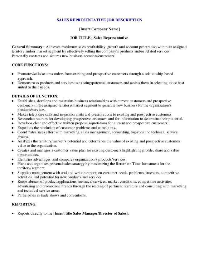 General Manager Job Description Sample