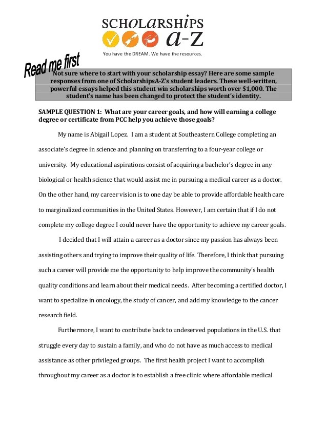 Scholarship Essay Examples About Leadership