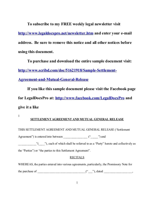 Doc12751650 Mutual Agreement Template doc460595 mutual – Mutual Agreement Sample