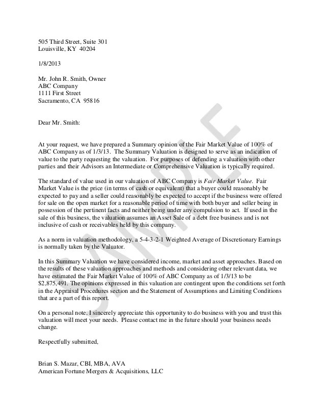Valuation Analyst Cover Letter - sarahepps -