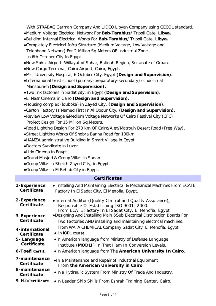 Rf Engineer Resume Sample Job Interview Career Guide Design Electrical Engineer Cv