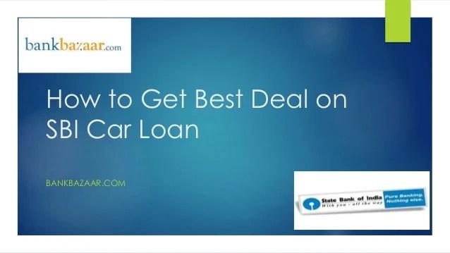 Sbi car loan ppt