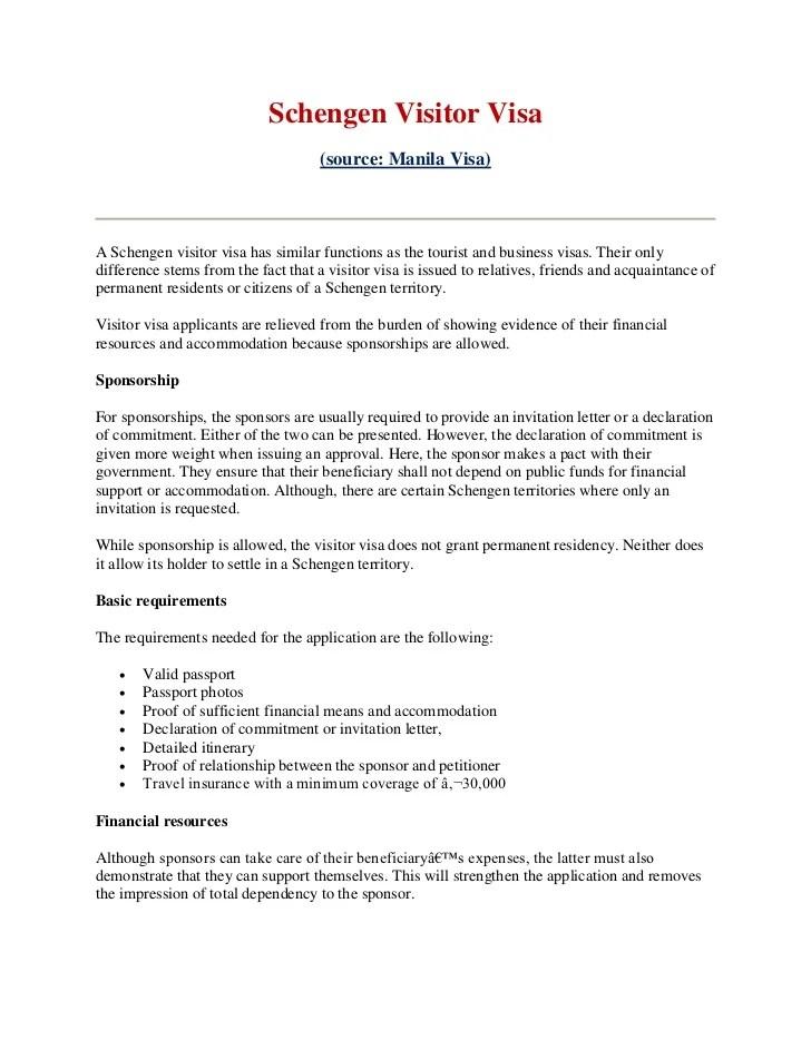 Sponsorship Letter Schengen Visa | How To Write A Resume | Resume ...