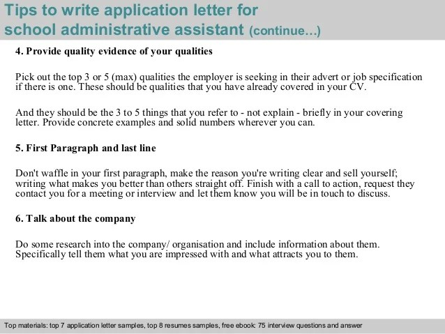 school administrative assistant sample cover letters - Dean