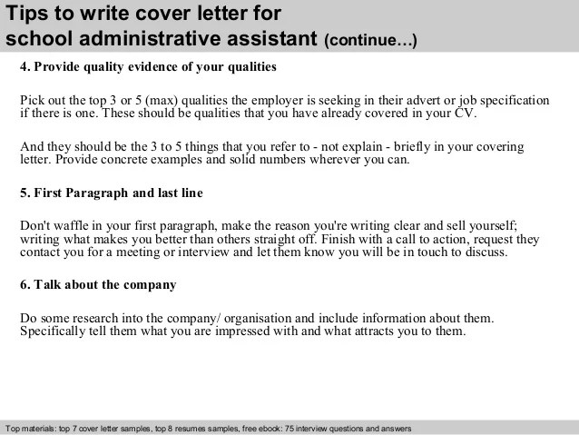 cover letter for school administrative assistant - Intoanysearch - sample cover letters for administrative assistant