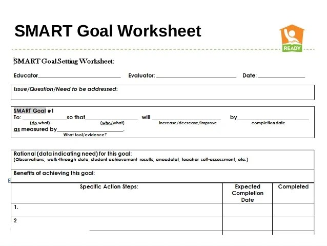 Goals Worksheet For Students Delibertad – Smart Goals Worksheet