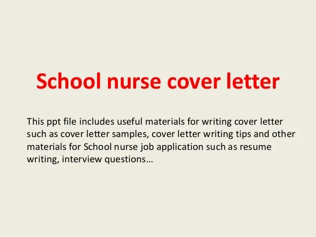 What Does A Good Cover Letter Look Like Ask A Manager School Nurse Cover Letter