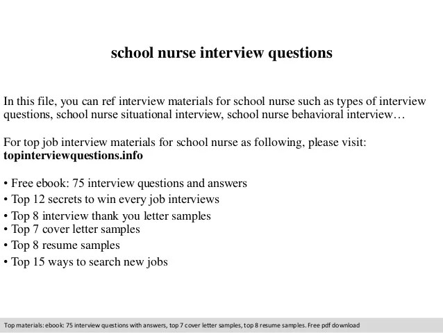 interview questions for nurses - Trisamoorddiner