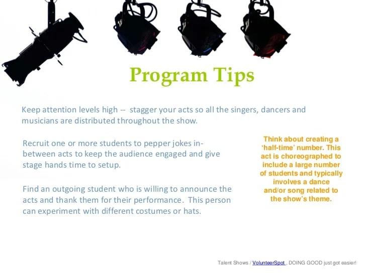 talent show program template - Leonescapers