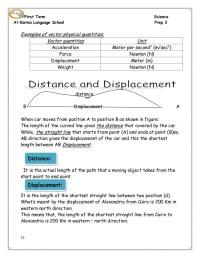 Printables. Displacement Vs Distance Worksheet Answer Key ...