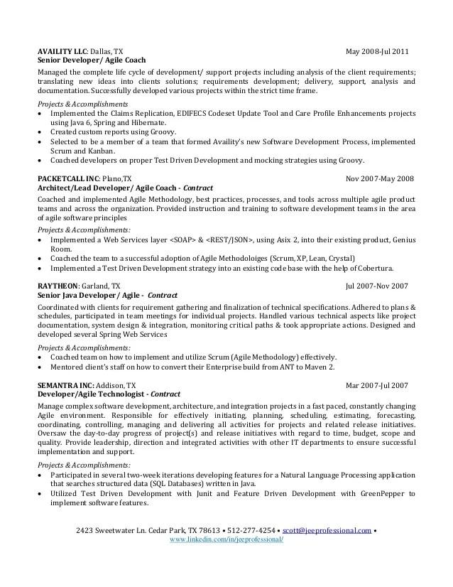 awesome agile methodology resume contemporary simple resume