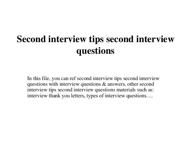 job second interview