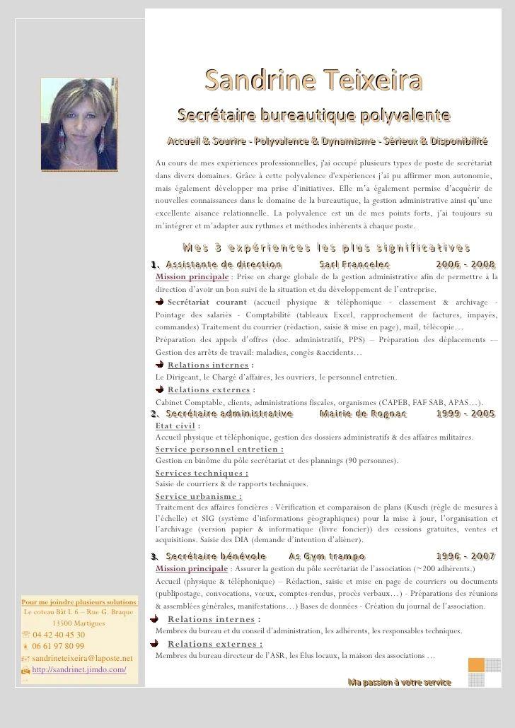 modele cv secretaire polyvalente pour la suisse