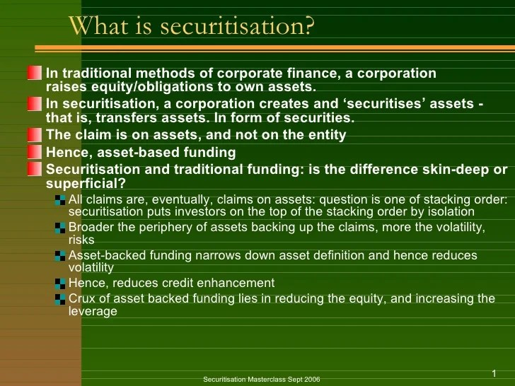 Securitization