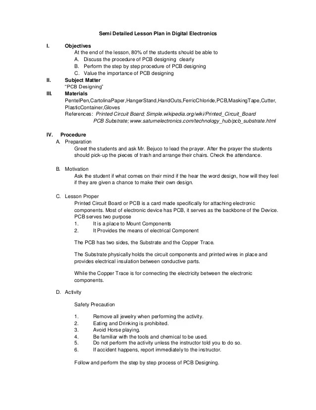 physical education lesson plan template - Intoanysearch