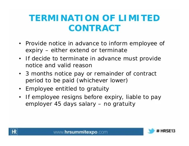 Termination Of Employment Contract Agreement | Resume Tips Singapore