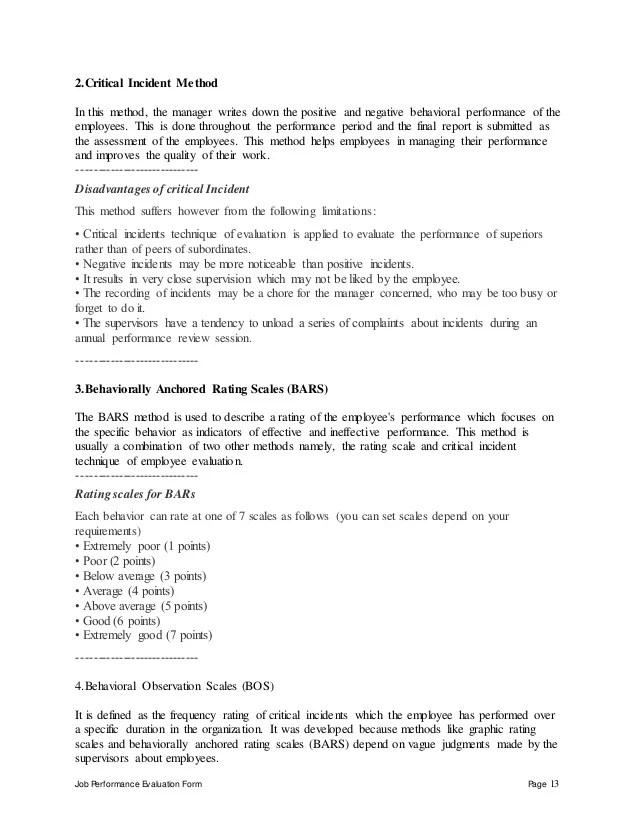 Managersupervisor Performance Appraisal Senior Manager Performance Appraisal