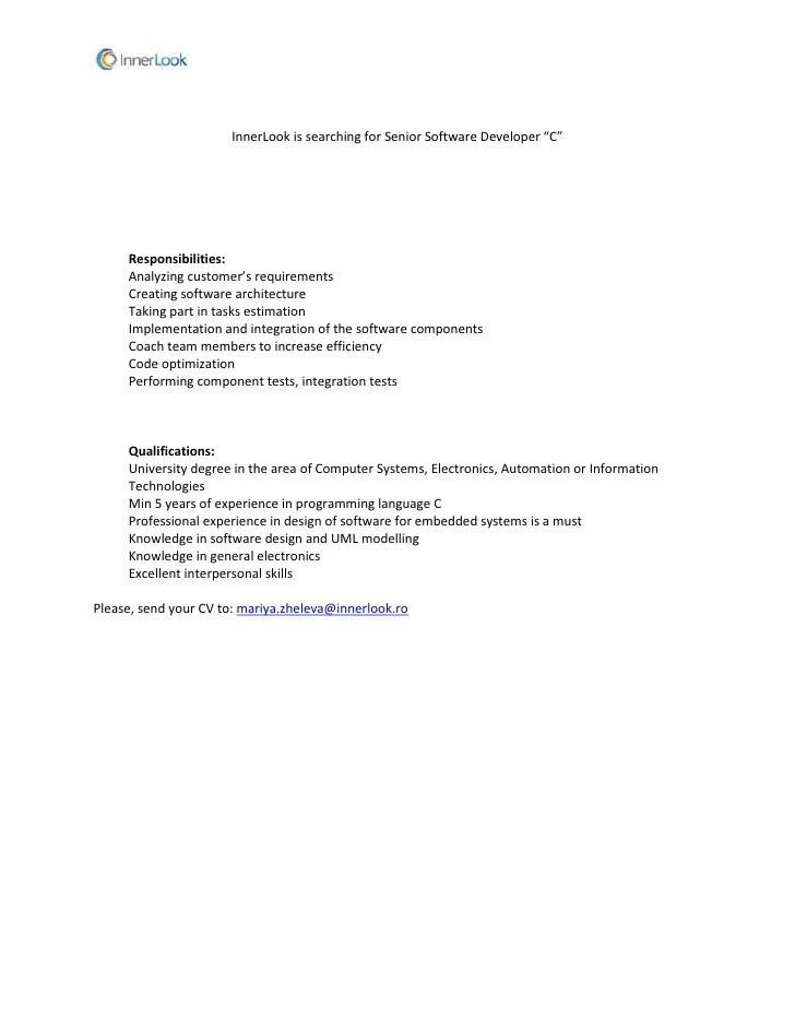 Order processing job description - senior programmer job description