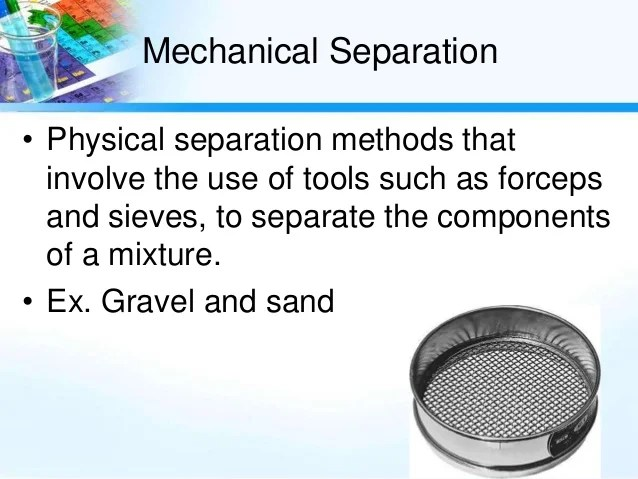 how to separate mixtures