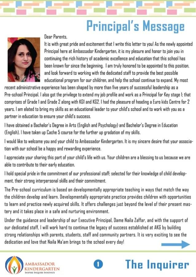River Edge Public Schools Best Kindergarten In Dubai Newsletter September 2014