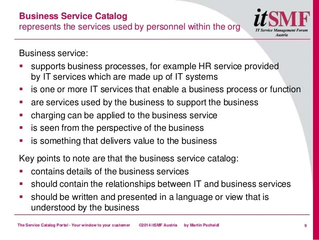 services catalog example - Pinarkubkireklamowe