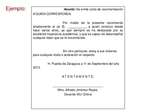 ejemplo de promocion simple ejemplo de carta de presentacin sesi243n 1 reglas grales de - Ejemplo De Cover Letter