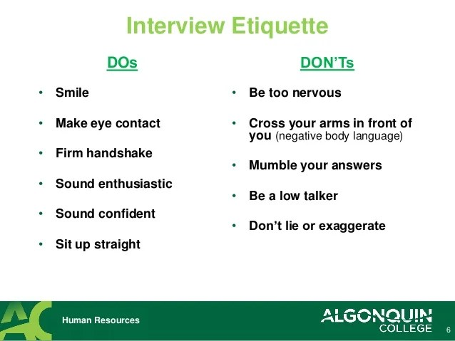 interviewing tips - Ozilalmanoof