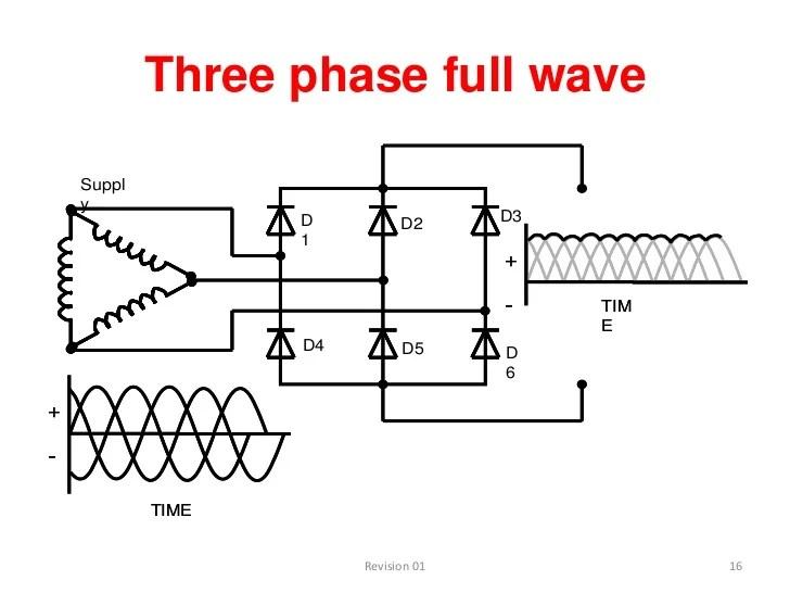 circuit diagram 3 phase bridge rectifier