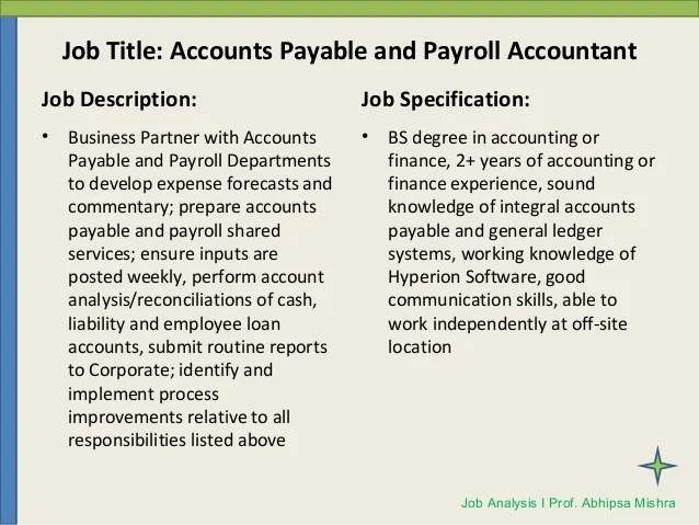 payroll accounting job description - Gottayotti