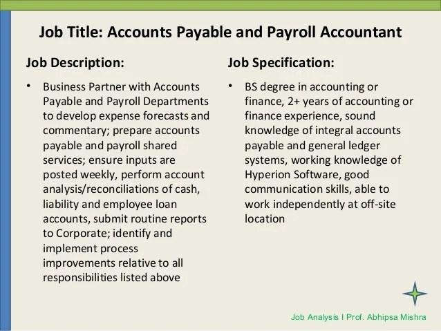 account payable responsibilities
